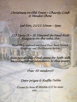 Christmas in Old Town Niagara on the Lake Charity Craft & Vendor
