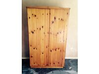 Double wardrobe with lock: width 42in, height 73in, debth 22in.