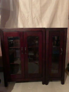 Dining room wine/glass cabinets