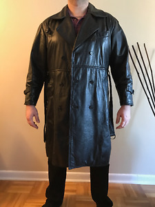 Men's full lenght leather jacket from the Leather Ranch