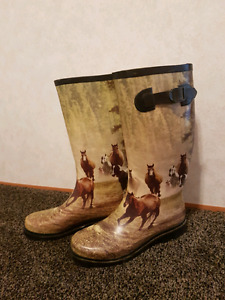 Horse rubber boots!