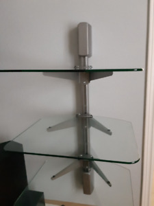 Wall mounted shelf system for audio/video components