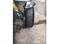 Quad supermoto wheels and tyres