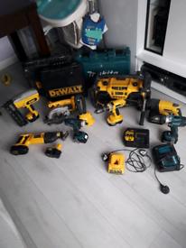 Dewalt & Makita power tools