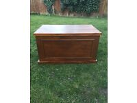 Large solid pine strong blanket box or coffee table looking great