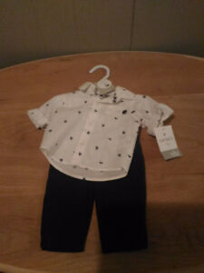 Brand New Carter Baby Boy Two Piece Layette