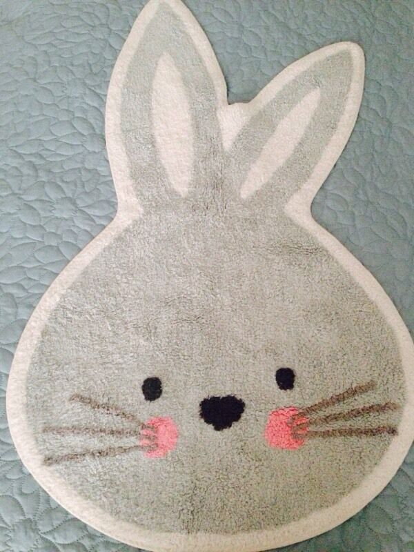 Children S Bunny Rabbit Rug Girls Nursery Bedroom In