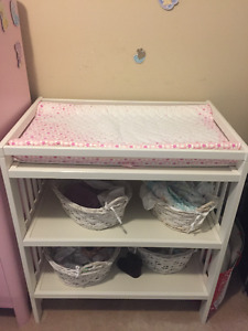 changing table with free baskets