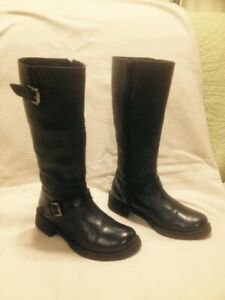 "Ladies ""Gliders by Liberty"" Tall Black Leather Winter Boots 7.5"