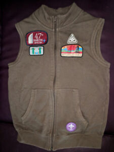 Beaver Scout vest and hat