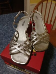 42665055521c Ladies Silver Sandals For Sale.