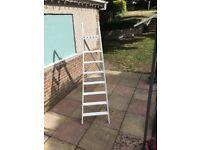 Supersized retro wooden ladder