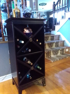 Bombay wood wine cellar stand fits 24 bottles