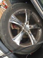 Tire with rims 275/R45/20 for Audi Q7
