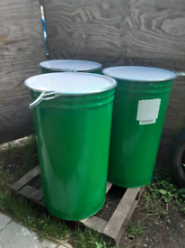 Large 205 litre 45 gallon metal drums - PURCHASE 10 GET 1 FREE