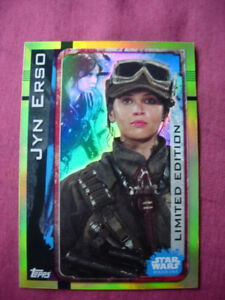 2016 Topps UK Star Wars Rogue One card Limited Edition Jyn Erso