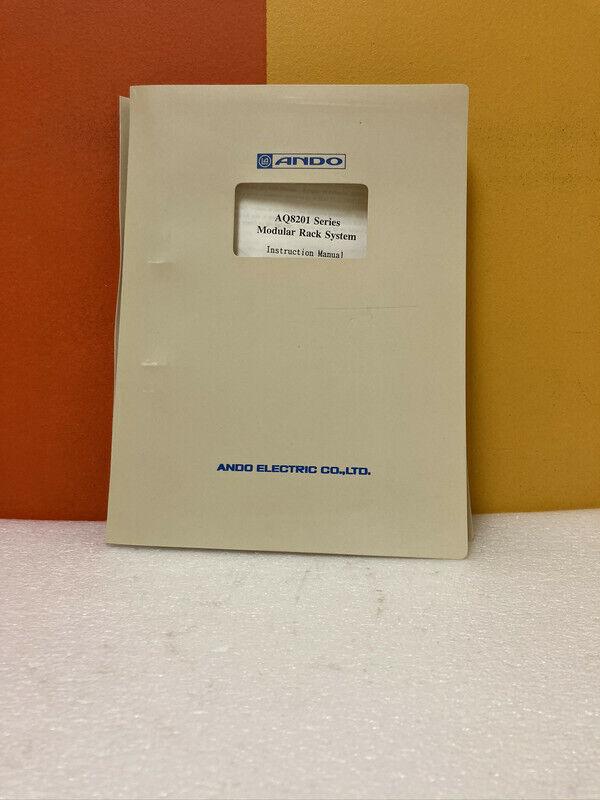 Ando AQ8201 Series Modular Rack System Instruction Manual