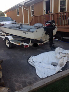 For Sale - Bass King Hydro Yacht Fishing Boat with Trailer Cornwall Ontario image 2
