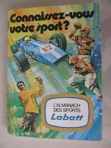 L'almanach des sports Labatt (questions sports : hockey, basebal