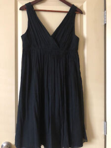Jcrew Black silk dress