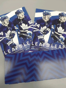 LEAFS TICKETS JAN 7 4 SEATS TOGETHER