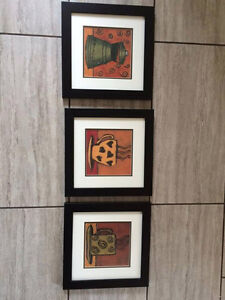 Framed coffee prints