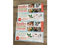 Four tickets to foodies festival at Tatton park