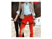 Ralph Lauren Equestrian Twill Jodhpurs Pants Suede Patch