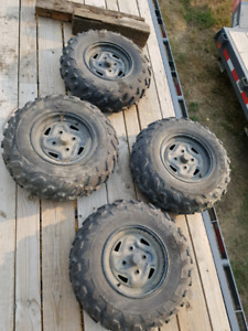 Brute force factory takeoff rims and tires