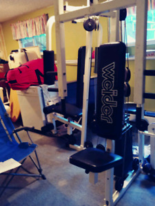 home cable gym SOLD