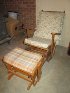 Gliding Wood Chair and Ottoman, Office/Dining Chairs, and Stool