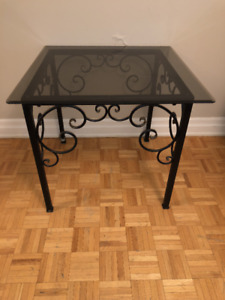 Glass Top Tables Wrought Iron