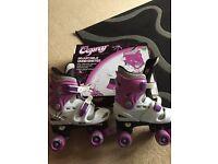 Girls adjustable quad skates (fit size 3-5)