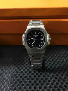patek-philipe Black face silver bracelet new watch