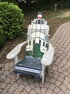 Old Muskoka Chair with Seguin Painted