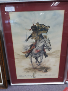 military lithograph of 1854 Soldier - officer 11th Hussars