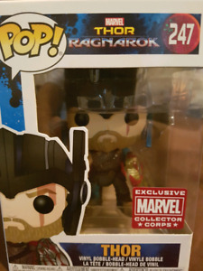 Funko pop Marvel Collector Corps Exclusive Thor and Loki