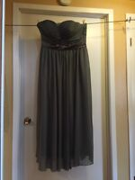 Grey chiffon dress for Sale