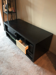 Solid Wood Entertainment and TV Stand - $150 (Burnaby)