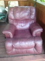 fauteuil en cuir lazyboy pivotant