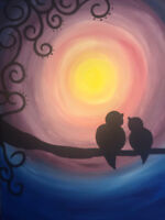 Family Valentine's Day Paint Night