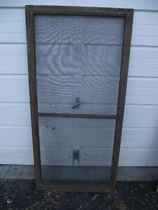 Antique Exterior Door Winter and Summer Inserts