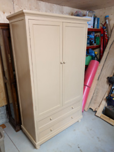 Tall Solid Wood Cabinet/Armoire