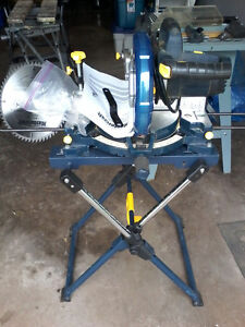 "Mastercraft 10"" Compound Mitre Saw with Laser Line and  stand"