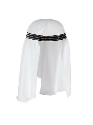 Dlx Sheik Headpiece Hat Fancy Dress Desert Prince Arab Arabian Sultan Keffiyeh