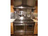 Stoves Stainless Steel Range with Cooker hood & Splash back