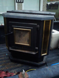 Pellet stove with pipes