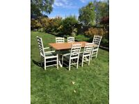 Farmhouse table and chairs - pine - solid quality
