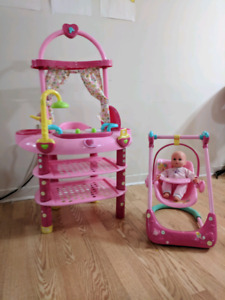 Baby Alive playset $ chair. - if this is up it's still available
