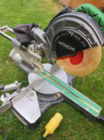 Hitachi chop saw sliding compound mitre 110v